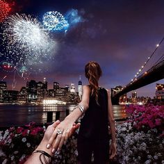 #followmeto the 4th of July fireworks with @natalyosmann and @INCinternationalconcepts.  We were  watching from Brooklyn side. Tag your friends who were caught off guard with rain that night like we were :)! #followinc