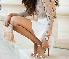 White & nude jewels