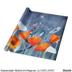 Summernight- Shadow of a Poppy meadow Wrapping Paper by #UtART_HOME |  | #S6GTP ~ Created by one of my friends at  Zazzle ~