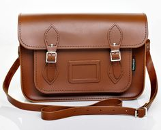 """Classic Leather Satchel. A classic bag reinvented. 16"""" bag is the perfect fit, Macbook in the back iPad in the front pocket."""