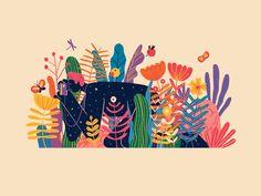 Graphic art and design Illustrations, Flat Illustration, Jungle Illustration, Posca Marker, Cycle Of Life, Animation, Instagram Life, Flyer, Graffiti