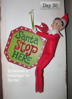 Eli the elf tells Santa the girls are on the nice list and he should stop at their house.