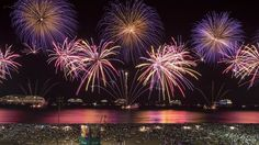Major cities around the world bid farewell to 2014 and welcome in 2015 with massive firework displays and celebrations featuring fireworks, music, and dancing.