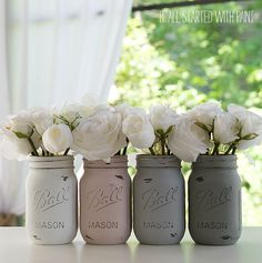 How To Paint and Distress Mason Jars - It All Started With Paint