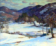 """Vermont in Winter,"" Aldro Thompson Hibbard, oil on canvas, 24 x 30"", McDougall Fine Arts Galleries."