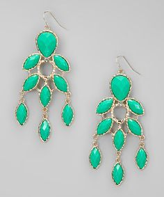 Take a look at this Green Drops Earrings by Natasha Accessories on #zulily today! $12