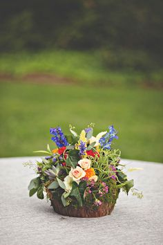 rustic floral arrangement
