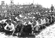 Chinese and North Korean prisoners of war at a United Nations Command prison camp in Pusan, South Korea, April Gahn/U. Department of Defense World History, World War Ii, World Literature, Prisoners Of War, Korean War, Historical Images, American Soldiers, Troops