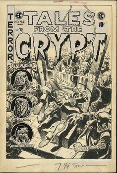 jack davis ec comics | ... the Crypt. No. 44. EC Comics. 1954. Original artwork by Jack Davis