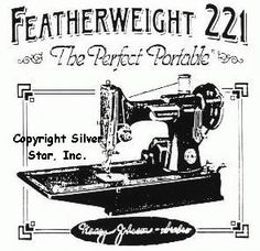 The Featherweight; the Perfect Portable