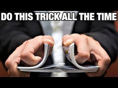 Fool everyone at school or work with this impressive no setup card trick. I definitely recommend you give this one a try. Magic Tricks Videos, Magic Card Tricks, Cool Magic Tricks, Magic Cards, Card Shuffling Tricks, Card Tricks Revealed, Learn Magic, Magic Illusions, Sleight Of Hand