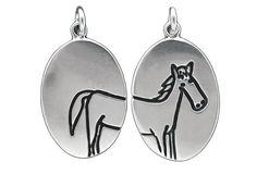 Horse Necklace  Reversible Sterling Silver Horse Pendant by marmar