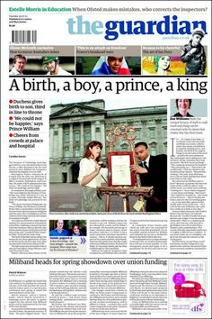 Royal baby: what the British papers said - Telegraph