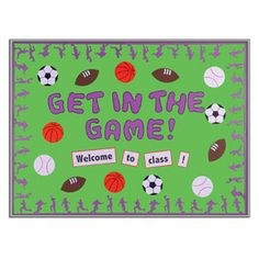 Sports theme classroom ideas - great for our reading incentive theme this year