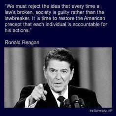 Reagan, responsibility!