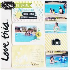 Sizzix Tutorial | Life Made Simple Watecolor by Genevive Rulona