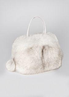 Fur Bag Blue Fox Handbag Pocketbook 249