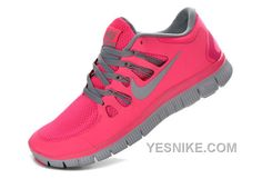 cheaper 533e6 fdd96 Nike Free 5.0+ Womens Coral Light Gray Running Shoes - Click Image to Close  Nike