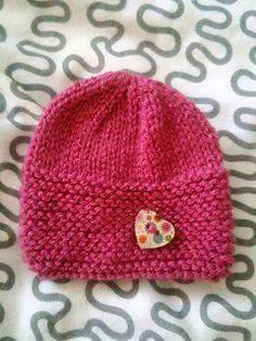 Babbity Baby Hat pattern by marianna mel – Knitting patterns, knitting designs, knitting for beginners. Baby Hat Knitting Patterns Free, Baby Cardigan Knitting Pattern, Baby Hat Patterns, Baby Hats Knitting, Hand Knitting, Knitted Hats, Newborn Knit Hat, Newborn Hats, Beanie Pattern