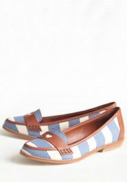 Striped loafers by Shelly's. Want :(