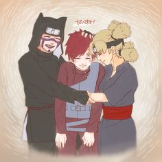 Kankuro, Temari and their little brother Gaara. Love these three so much!