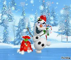 Christmas Scenes, Disney Christmas, Christmas Holidays, Merry Christmas, Olaf, Xmas Pictures, Christmas Tree Inspiration, Disney Frozen 2, Winter Time