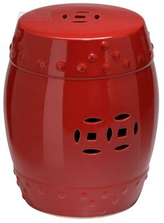 Small ceramic stool - red!