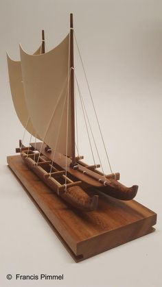 Outrigger Canoe, Home Room Design, Hot Wheels Cars, Driftwood Art, Small Boats, Wooden Boats, Model Ships, Boat Building, Wood Toys