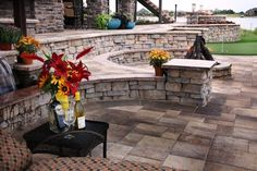 patio on sloped backyard | Patio sloped yard Design Ideas, Pictures, Remodel and Decor
