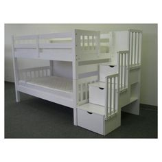 Bunk bed with stair storage!