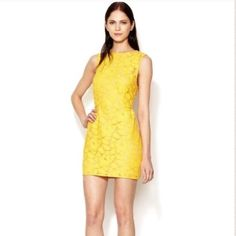 HP3.1 Phillip Lim Dress Vibrant yellow lace sheath mini. Soft interior lining. Purchased on Gilt! 3.1 Phillip Lim Dresses Mini