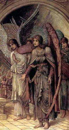 "John Melhuish Strudwick. ""The Ramparts of God's House"""