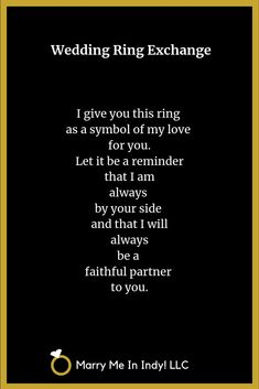 Secular,Wedding Ring Exchange Scripts and PDFs - WEDDING CEREMONY PRO