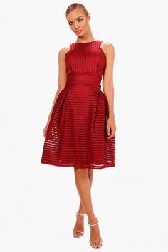 Boutique Li Panelled Full Skirt Skater Dress