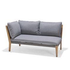 Modulsofa i moderne stil med ramme i eukalyptustre. Roma-serien har mulighet for flere variasjoner da delene selges hver for seg.. Modul Sofa, Love Seat, Couch, Patio, Furniture, Home Decor, Modern, Rome, Settee