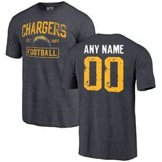 best authentic 67b92 06dc5 Men Los Angeles Chargers NFL Pro Line by Fanatics Branded Navy Distressed  Custom Name and Number