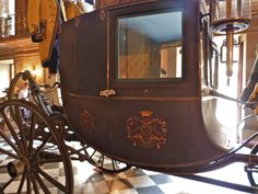 This carriage belonged to the Duke of Devonshire - but it could have belonged to Sheffield. Side View of the Devonshire State Chariot, showing the Cavendish Arms on the Door Panel