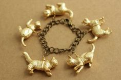 Gilded Cat Bracelet - copyright A Common Thead