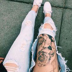 Tattoos & ripped jeans tattooinkspo