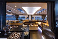 Fountaine Pajot Hélia 44 saloon – My World Power Catamaran, Sailing Catamaran, Yacht Boat, Speed Boats, Power Boats, Yacht Interior, Interior Design, Small Yachts, Row Row Your Boat