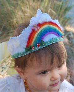 This item is unavailable Felt Crown Wool Waldorf Inspired Birthday / by MirthDesignsStudio Diy Birthday Crown, First Birthday Hats, Birthday Crowns, Felt Headband, Flower Crown Headband, Pixie, Crown For Kids, Felt Kids, Felt Crown