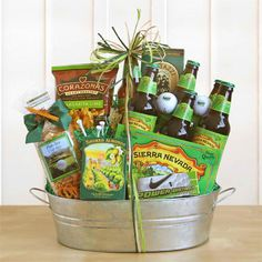 They will be longing for the course when they get this selection of microbrews and snacks perfect for a day on the green. Six Sierra Nevada beers, pretzels, roasted almonds, chips, Par Tee snack mix, a sleeve of golf balls and a bag of tee's.