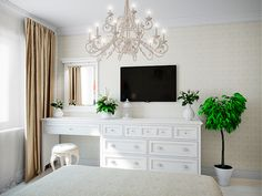 Bedroom neutral glam home decor 28 trendy Ideas - All About Decoration Bedroom Tv Wall, Closet Bedroom, Home Bedroom, Bedroom Decor, Glam Bedroom, Master Bedroom, Mirrored Bedroom Furniture, Bedroom Furniture Makeover, Neutral Bedrooms