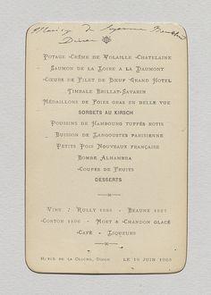 Antique French Menu Cafe Riche Toulouse  Mars   Ebay
