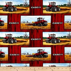 Designed by Charles Freitag for Print Concepts this cotton print is perfect for quilts home decor accent and craft projects. Colors include shades of red blu. Case Ih, Fabulous Fabrics, Shades Of Red, Accent Decor, Craft Projects, Crafts, Design, Manualidades