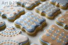 Art patterned cookies