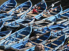 Small fishing boats in Essaouira. #Morocco #travel