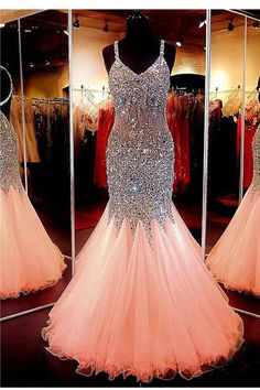 Sweetheart Neckline Mermaid Open Back Beading Prom Dress Evening Dresses PG301