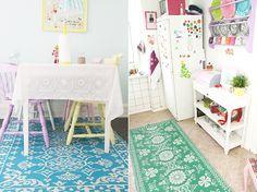 Plastic carpets in beautiful colours