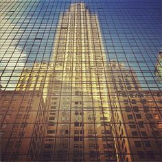 Chrystler building reflected at Grand Hyatt